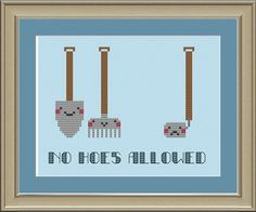 No hoes allowed funny crossstitch pattern by nerdylittlestitcher, $3.00
