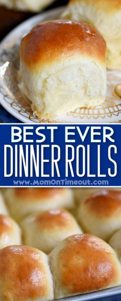 The VERY BEST dinner rolls you will ever have! Light, fluffy, buttery dinner rolls are easier to mak Dinner Rolls Easy, Sweet Dinner Rolls, Fluffy Dinner Rolls, Homemade Dinner Rolls, No Yeast Dinner Rolls, Best Dinner Roll Recipe, Best Bread Recipe, Dinner Rolls Recipe, Simple Yeast Rolls Recipe