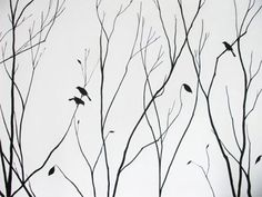 tree mural. Also has templates to use for the birds
