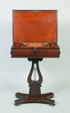 A rare Australian Cedar Work Table Colonial Furniture, Sewing Box, Tables, Boxes, Antiques, Mesas, Antiquities, Crates, Antique
