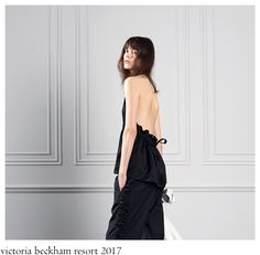 It feels like it has been ages ago of Victoria doing/creating cocktail/event-wear garments. Now her woman is all about understated and . Backless, Women Wear, Runway, Victoria, Elegant, How To Wear, Collection, Dresses, Fashion