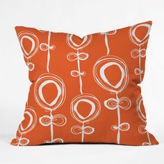 Rachael Taylor Contemporary Orange Throw Pillow | DENY Designs Home Accessories