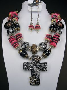 Chunky Western Cowgirl Necklace  PINK by CayaCowgirlCreations, $68.00