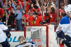 Blackhawks vs. Blues - 04/27/2014 - Chicago Blackhawks - Photos.  Sharp reacts after scoring in the third period against the Blues in Game 6 of the first round of the 2014 Stanley Cup Playoffs at the United Center on 4/27/14.