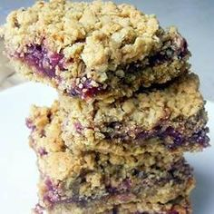 Raspberry oat slices 5 tablespoons light brown soft sugar 125g (4 1/2 oz) plain flour 1/4 teaspoon bicarbonate of soda pinch salt 100g (4 oz) porridge oats 125g (4 1/2 oz) butter, softened 250g (9 oz) good quality raspberry jam