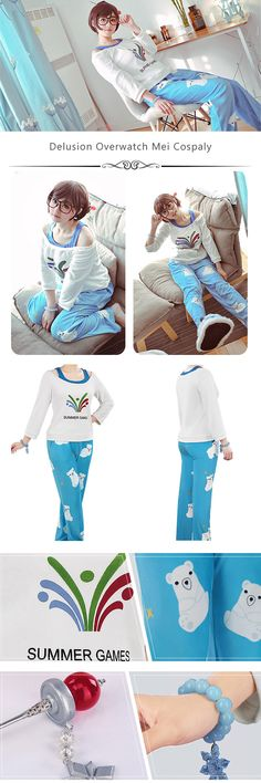 19685973ac6b More about Overwatch Mei Cosplay Pajama sells at Miccostumes.  cosplay   miccostumes  overwatch