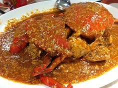messy, spicy CHILI crab! Top #Singapore #seafood <3