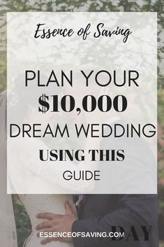 While the average wedding cost approximately $35,329, it is possible to plan and execute your wedding with only $10,000. I am in the process of planning my wedding and have been researching ways to reduce the overall cost. Here are some of the things that