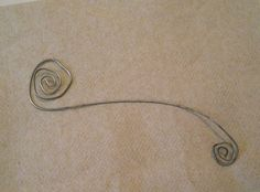 steel wire design used to stamp on copper  - from Alternative Wire Jewelry Making: Hardware-Store Steel Wire Jewelry and Making Steel Wire Tools - Jewelry Making Daily