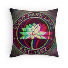 Echo Park Pillow  Los Angeles  East Side  Throw by DifferentCity