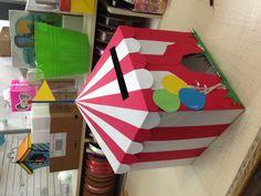 DIY circus card box!