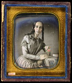 This portrait of (Anna) Miriam Bailey Easterly, dated August 1849, may be the earliest of the Easterly daguerreotypes in the collection. Easterly produced it nearly a year before his marriage to Miriam, in June 1850. It is unknown how Thomas and Miriam met, but it may have been through a sitting like this one.