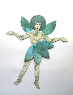 River Sprite Paper Doll Fairy Paper Doll Winged by JuliaPeculiar