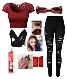 """""""Love Red"""" by nealamyah ❤ liked on Polyvore featuring Michael Antonio"""