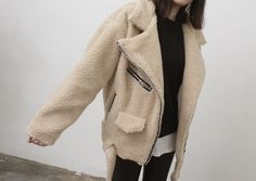 #shearling coat.