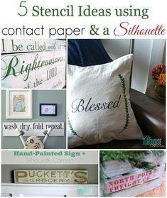 Five Ways to Stencil with Contact Paper