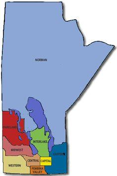 areas of Manitoba