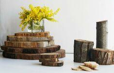Decoración rústica con troncos