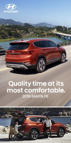 The Santa Fe SUV is the perfect choice for busy families. Get together, relax and bring your toys along. Santa Fe has all the latest tech, plus innovative safety you'll appreciate. Santa Fe Suv, Compact Suv, Family Adventure, Quality Time, Volvo, Volkswagen, Vacation, Families, Motorcycles