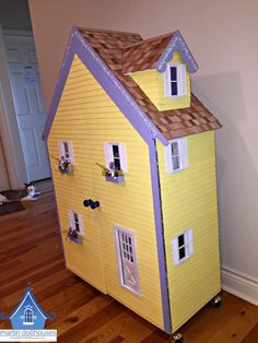 The finished Alpine dollhouse. Dollhouse Kits, Toy Rooms, Kit Homes, Dollhouses, Toy Chest, Storage Chest, Kids Toys, Shed, Room Ideas