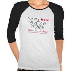 Parkinsons Disease Tribal Ribbon Hero T-shirts by www.giftsforawareness.com #awareness #ParkinsonsDisease