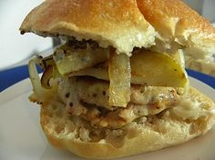 Turkey Burgers With Apples, Gruyere, and Sage Mayo