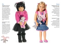 Miu and Teresa are two of the new dolls in the 2014 Kidz 'n' Cats collection. These gorgeous play dolls for age 6+ have been designed by Sonja Hartmann - a very gifted lady! Miu will be available in August and Teresa in April.
