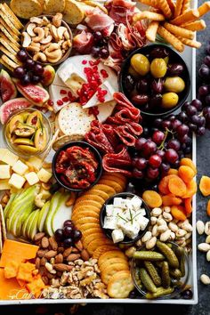 A Loaded Thanksgiving Cheeseboard to kick off your day/night with an easy and qu. - A Loaded Thanksgiving Cheeseboard to kick off your day/night with an easy and quick, throw together cheeseboard that requires zero skill and no prep work! Charcuterie Recipes, Charcuterie Platter, Charcuterie And Cheese Board, Antipasto Platter, Cheese Boards, Meat Cheese Platters, Cheese Plates, New Year's Eve Appetizers, Thanksgiving Appetizers