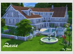 With its 8 bedrooms, Zazie's country house is ideal for a large group of Sims. They can enjoy the swimming pool, practice their gardener skill, or relax in the wellness,  do some yoga or invite...