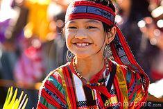 Igorot Girl Poses at the Flower Festival Parade