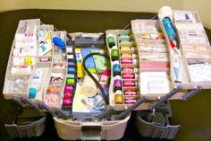 first aid kit with checklist - I'm for everything but the essential oils. Overall, a very complete kit.