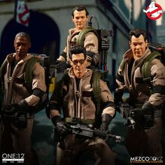 They ain't afraid of no ghost! Mezco welcomes everyone's favorite parapsychologists into the One:12 Collective with a five-figure deluxe set – all four Ghostbusters plus a supernatural bonus figure: Slimer!