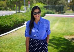 Red Lips with Chambray
