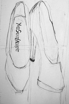 Wow - love this shoe sketch by stina spadaro.