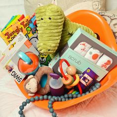 Easter basket for toddler and baby easter basket handmade toys the not so traditional easter basket negle Choice Image