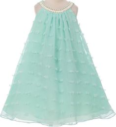 Sleeveless Pearl Neckline Flower Girl Dress. The special occasion dress is perfect for dancing, party and also pageant. Zipper closure for a perfect fit. Made in USA.  Sleeveless Flower Girl Dress.  Special Design Pearl Neckline.  Zipper closur...