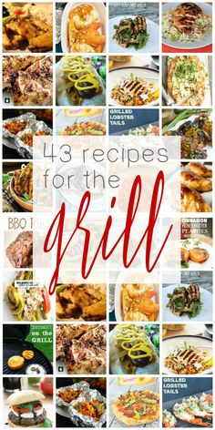43 Recipes That Will Make You Want to GRILL All Year Long! Simple grilling recipes to help you cook a great meal! Summer Grilling Recipes, Healthy Grilling, Barbecue Recipes, Summer Recipes, Grilling Ideas, Grill Recipes, Easy Cooking, Cooking Recipes, Food Hacks
