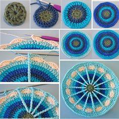 Tığ İşi Mandala Desenli Motif Yapılışı | elisiorgudukkani.com