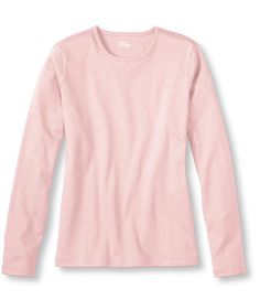 Women's Pima Cotton Tee, Long-Sleeve Crewneck | Free Shipping at L.L.Bean
