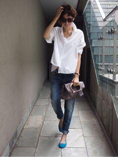Maki Tamaru - White shirt by Mackintosh