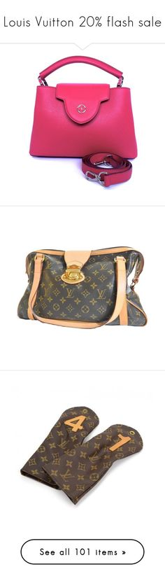 """""""Louis Vuitton 20% flash sale"""" by snobswap ❤ liked on Polyvore featuring bags, handbags, shoulder bags, backpacks, luggage, beauty products, beauty accessories, bags & cases, jewelry and wallets"""