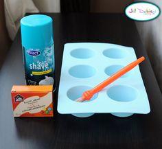 Meet the Dubiens: rainbow shaving cream bath paint