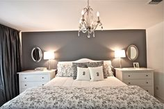 I like the low chest of drawers on either side of the bed. Would be much more useful than what we have now. | DIY Remodel Center