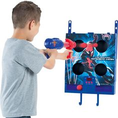 Spider-man Ball Blaster with Electronic Scoring Half Price, Toy Sale, Spiderman, Cool Things To Buy, Xmas, Cool Stuff, Spider Man, Cool Stuff To Buy, Christmas