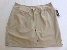 Green Tea Women's Skirt Skort w/Mesh Shorts Underneath XXL Khaki Beige NEW #GreenTea #SkortSkirtShorts