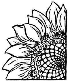 Woodle Doo Sunflower Linocut An excellent lino printing block LOVE it # Wood Burning Crafts, Wood Burning Patterns, Wood Burning Art, Sunflower Stencil, Sunflower Drawing, Sunflower Template, Sunflower Art, Sunflower Coloring Pages, Sunflower Pattern