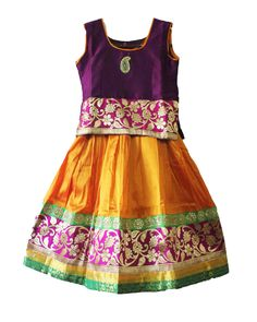 Beautiful girls royal pavadai size: 8-9 years Price: Rs 1125 Free shipping all over India whasapp : +91-9629187349  http://www.princenprincess.in/index.php/home/product/432/Dark%20blue%20and%20orange%20royal%20pavadai