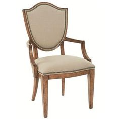 Bon Maison Upholstered Dining Arm Chair with Shield Back by Bernhardt - Riverview Galleries - Dining Arm Chair Furniture Store NC by Riverview Galleries located in Durham North Carolina has the area's best Selection of Furniture Online