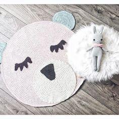 Häkelteppich häkelhase bunny crochet