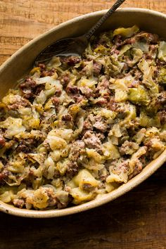 NYT Cooking: This recipe is an adaptation of one created by Tamasin Day-Lewis, the Stevie Nicks of British cookery. A casserole recipe that she credits to the British food writer Jane Grigson has just four ingredients — sausage, cabbage, butter and pepper — but after two and a half hours in the oven, it emerges mysterious and succulent.